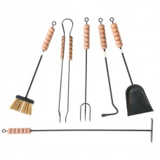 Kit utensili in ferro per camino o stufa. CA-CFI20M