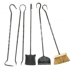 Kit accessori in ferro per caminetto o stufa. CA-CFI21