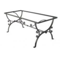 Tavoli in ferro battuto, ghisa, alluminio. Basi per giardino, terrazze, casa, interno, esterno.
