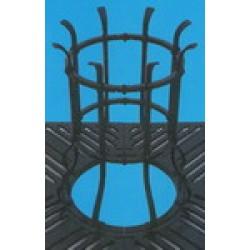 Colonna in Acciaio per Protezione Albero