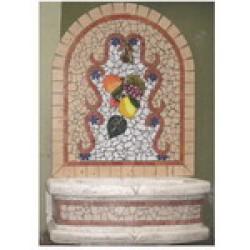 Fontane a parete in mosaico a tessere di marmo