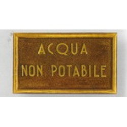Targhetta Acqua Potabile, Targa Acqua non Potabile