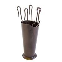 Kit accessori camino con cono in ferro. ONDA CG-CFI811