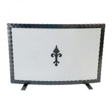 Parafuoco ferro curvo per caminetti e stufa. ROUND CP-CFI4/X