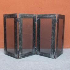 Parafuoco o barriera protettiva in ferro per caminetto e stufa. HOME CFI-3055/2