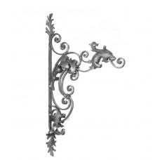 Mensola porta insegna ferro forgiato.