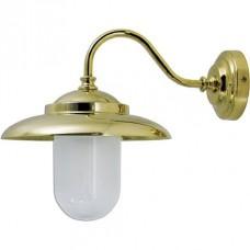 Lampada a muro in ottone per esterni ed interni. 0751-2324