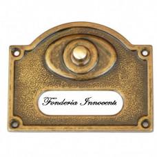 Campanello 1 pulsante da muro ottone brunito. 341.A