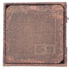 Chiusino ghisa grigia telaio 23x23. A13