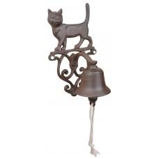 Campanella gatto in ghisa per casa e giardino. DB-CFI82