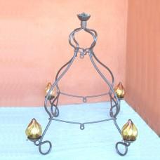 Lampadario da esterno in ferro forgiato 4 luci. REALE