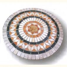 Piano tavolo mosaico circolare per giardino, terrazzo e portico. CLONIA