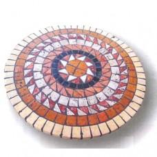 Piano tavolo mosaico circolare per interno ed esterno. ALCIBIA