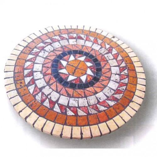 Tavoli Mosaico Per Esterno.Piano Tavolo Mosaico Circolare Per Interno Ed Esterno Alcibia