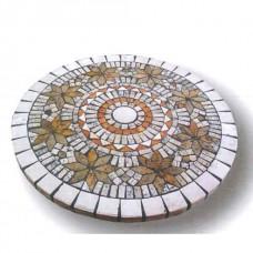 Piano tavolo mosaico circolare per portico e terrazzo. ANTIBROTE