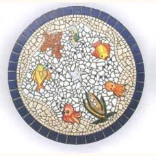 Piano tavolo per casa, portico in mosaico circolare. IPPOLITA