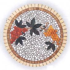 Piano tavolo mosaico circolare per terrazzo, giardino. MELANIPPE