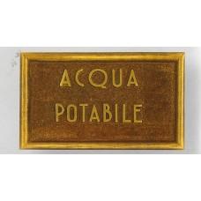 Targhetta Acqua Potabile 13126/c