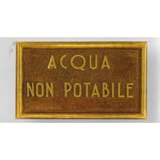 Targhetta Acqua NON Potabile 13126/d
