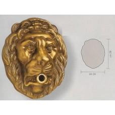 Borchia Rubinetto Testa di Leone Grande Ottone 13156