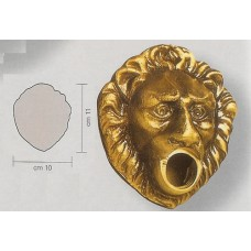 Borchia Rubinetto Testa di Leone Piccolo Ottone 13157