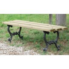 Panca in ghisa giardino e parco Mirella legno pino 4003/Pino