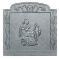 Piastra decorata in ghisa per rivestimenti focolare Venere cm 80xh.80. PIAORN19