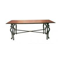 Base Tavolo interno/esterno in fusione di alluminio. Ascot rettangolare