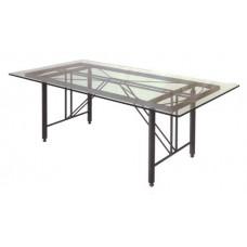 Base tavolo da giardino, terrazzo e cucina in ferro battuto. Modello Clessidra