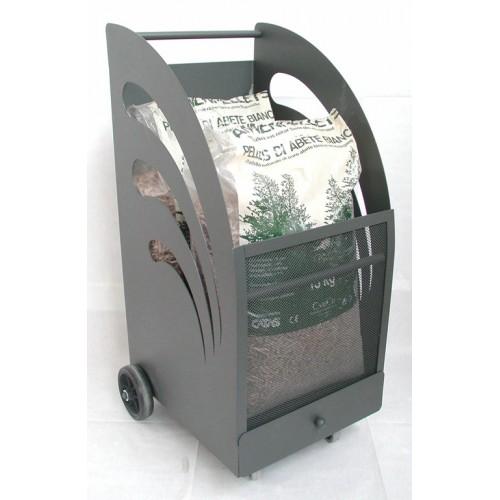 Carrello porta pellet art cfica009 for Porta pellet da interno
