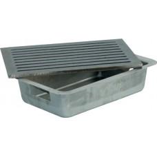 Cassetto raccoglicenere per caminetto completo di griglia. 15020-20x30