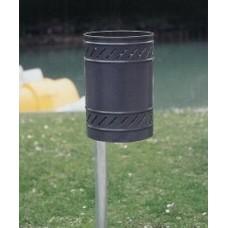 Cestino gettacarte Maggiolino completo di colonna acciaio. 6022
