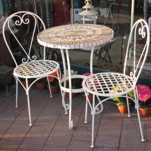 Tavoli E Sedie In Ferro Per Giardino.Completo Tavolo Da Giardino Terrazzo Portico In Ferro E Piano In