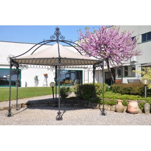 Gazebo esagonale ferro per giardino patio o terrazzo for Gazebo da terrazzo