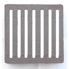 Griglia in ghisa per camino, stufa con bordo alto. GRIGLIA-BORDO cm 19,3x19,3 cm