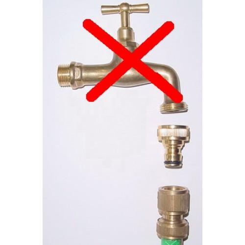 per irrigazione di superficie del giardino con Funzione Stop 2 Pezzi Connettori per Tubo da Giardino in Ottone con Tubo dellAcqua per Raccordo Rapido Raccordo di congiunzione per tubo dellacqua