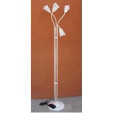 Lampada da terra realizzata in ferro 4 punti luce. 1105/P3-BIANCO-ORO