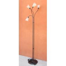 Lampada da terra realizzata in ferro 4 punti luce. 1105/P3-RAME