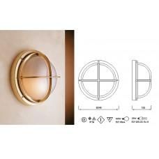 Lampada in Ottone Lucido con Griglia Art.0751-2226