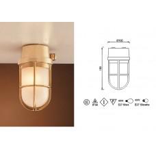 Lampada in Ottone Lucido con Griglia Art.0751-2296