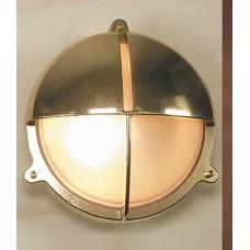 Lampada in Ottone Lucido con Schermo a Visiera Art. 0751-2428