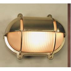 Lampada Ovale in Ottone Lucido con Schermo a Visiera Art.0751-2434