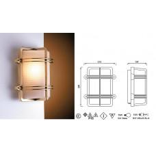 Lampada Rettangolare in Ottone Lucido con Griglia Art. 0751-2373