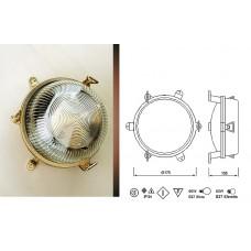 Lampada Tonda in Ottone lucido con tre Piedini di Fissaggio Art.0751-2136