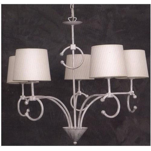 Lampadario con paralume in tela 5 luci Art. CFI-1250/5