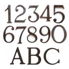 Numeri civici e Lettere in ottone Brunito h. cm 8