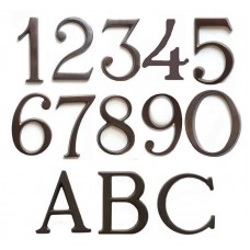 Numeri civici e Lettere in ottone BRUNITO h. cm 5