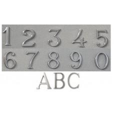 Numeri civici e Lettere in ottone CROMATO h. cm 5