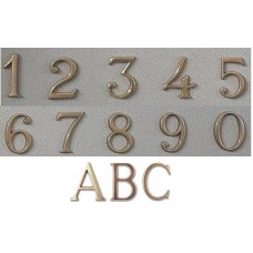 Numeri civici e Lettere in ottone LUCIDO h. cm 5