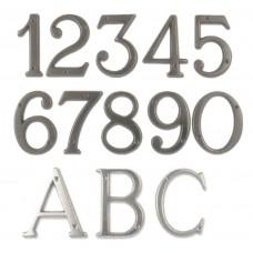 Numeri civici e Lettere in ottone Verniciato Antracite h. cm 8